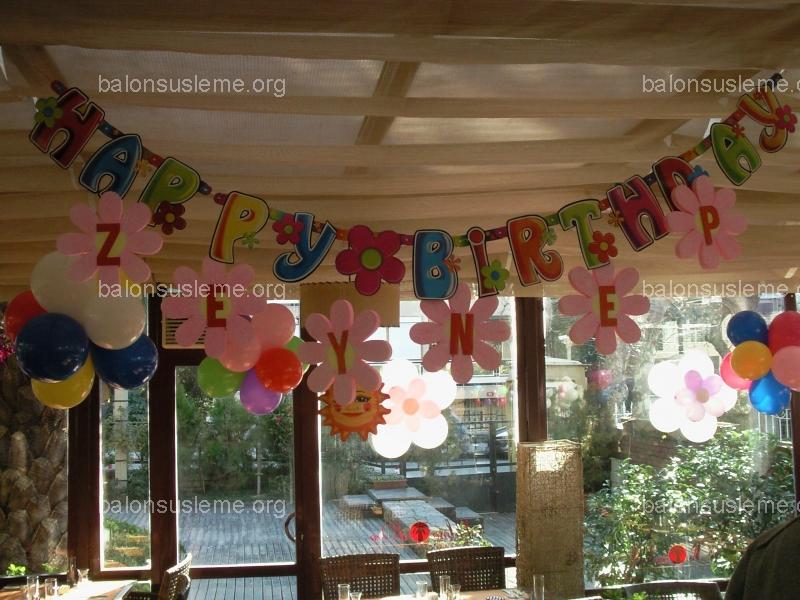 Doğum Günü Partileri İçin Balon Süsleme